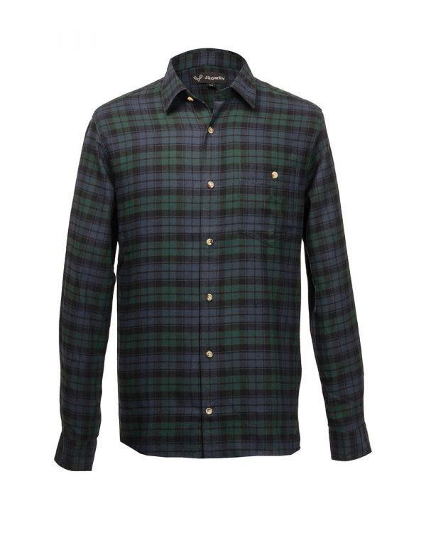 Flanellskjorta, Grön/blå