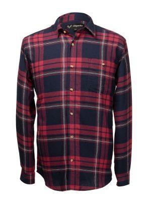 Flanellskjorta, Röd/Blå
